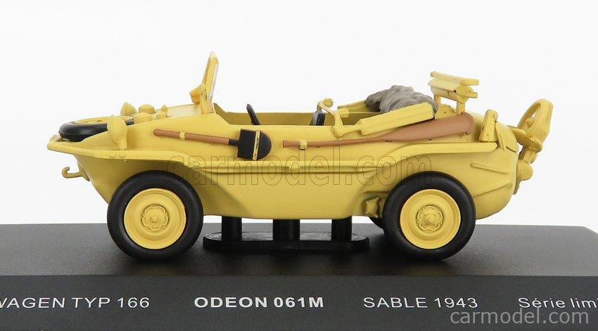 ODEON ODEON061M Scale 1/43  VOLKSWAGEN TYP 166 SCHWIMMWAGEN ANFIBIO 1943 MILITARY SAND