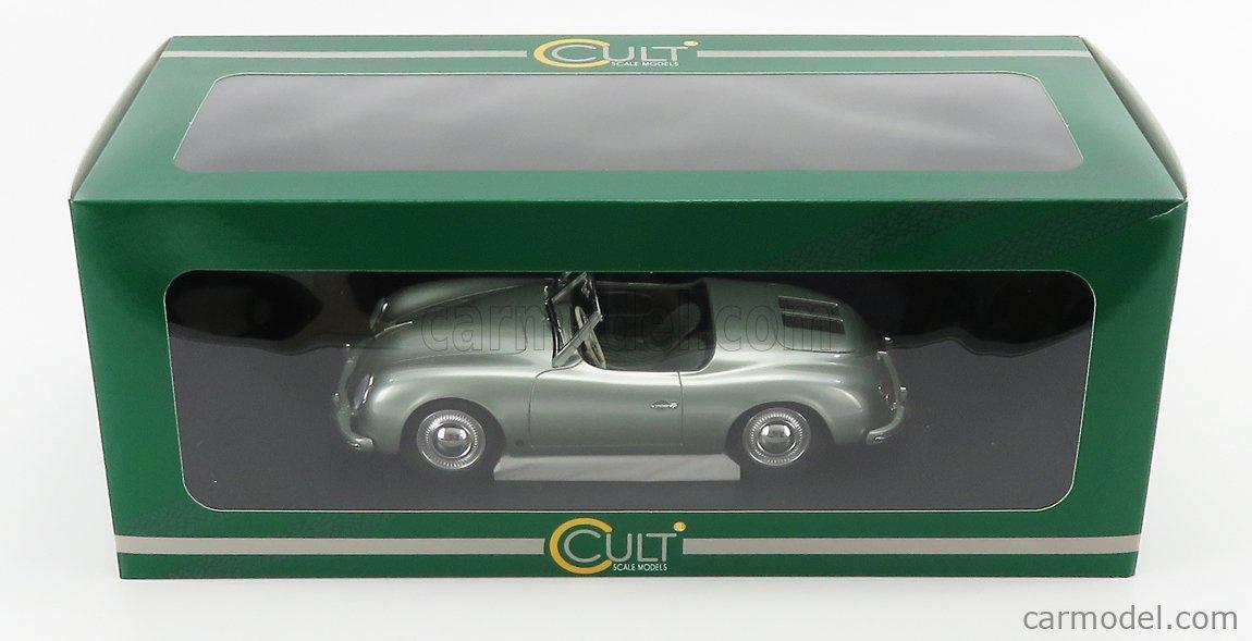 CULT-SCALE MODELS CML044-2 Scale 1/18  PORSCHE 356 AMERICA ROADSTER SPIDER 1952 VERY LIGHT GREEN MET
