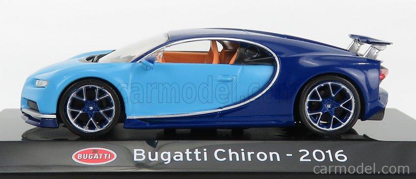 EDICOLA ABSUP003 Scale 1/43  BUGATTI CHIRON LE PATRON 2016 - CON VETRINA - WITH SHOWCASE 2 TONE BLUE