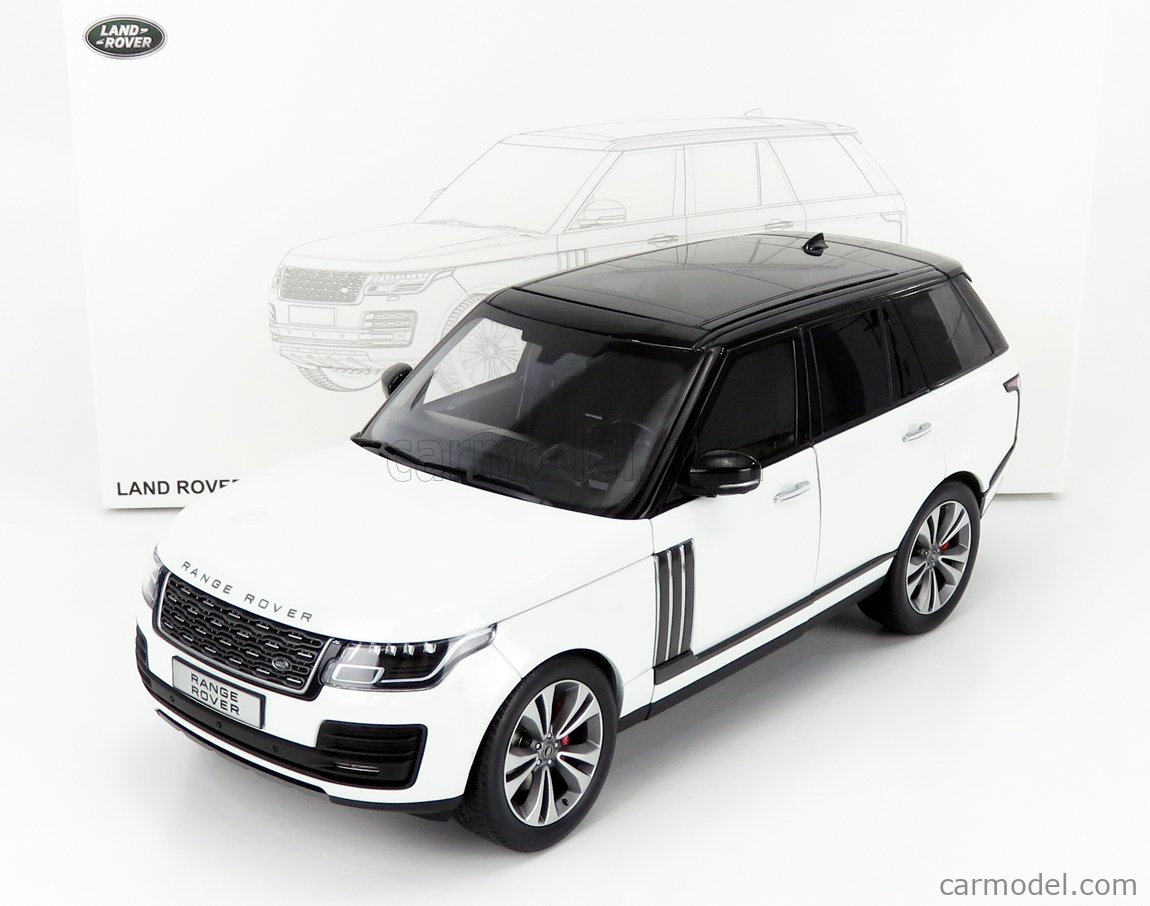 LCD-MODEL LCD18001B-WH Scale 1/18  LAND ROVER RANGE ROVER SV AUTOBIOGRAPHY DYNAMIC 2020 WHITE BLACK