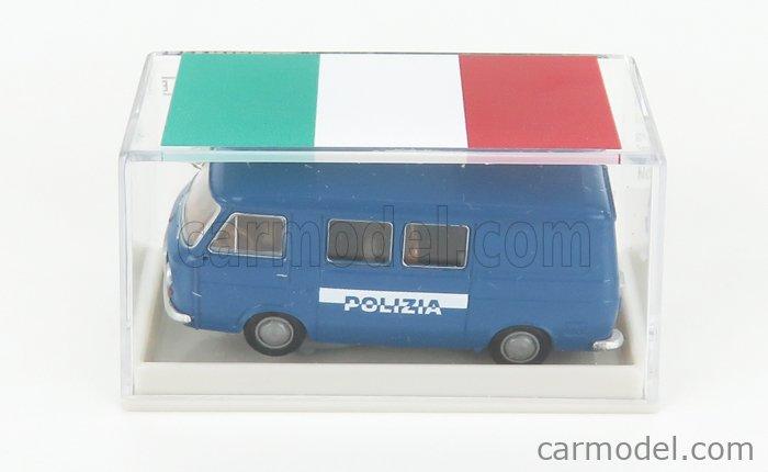 BREKINA PLAST BRE34433 Scale 1/87  FIAT 238 VAN MINIBUS POLIZIA 1966 BLUE