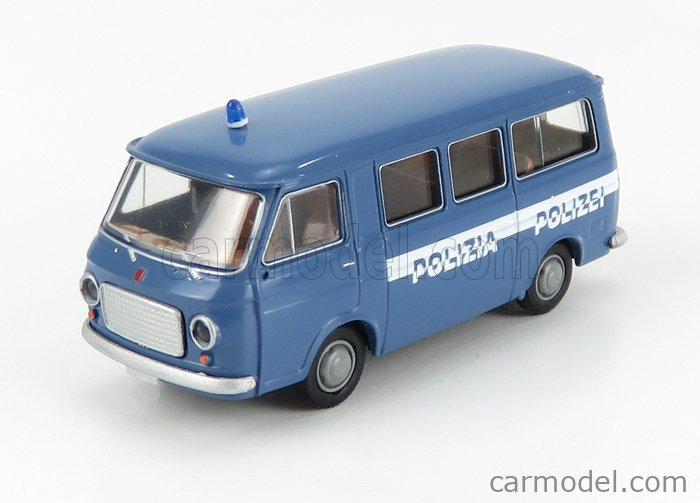 BREKINA PLAST BRE34414 Escala 1/87  FIAT 238 MINIBUS POLIZIA 1966 BLUE