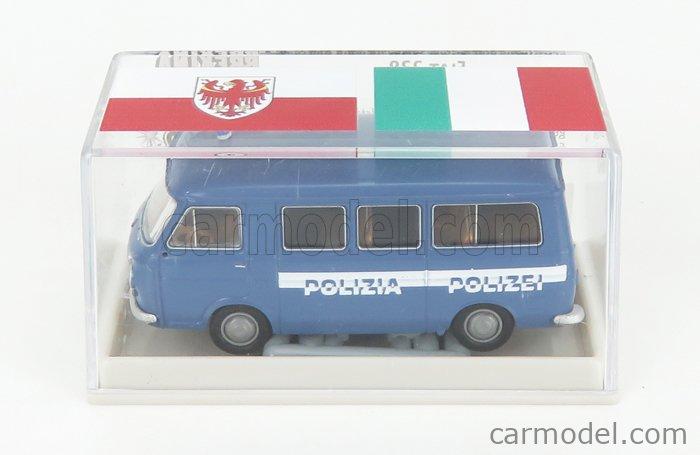 BREKINA PLAST BRE34414 Scale 1/87  FIAT 238 MINIBUS POLIZIA 1966 BLUE