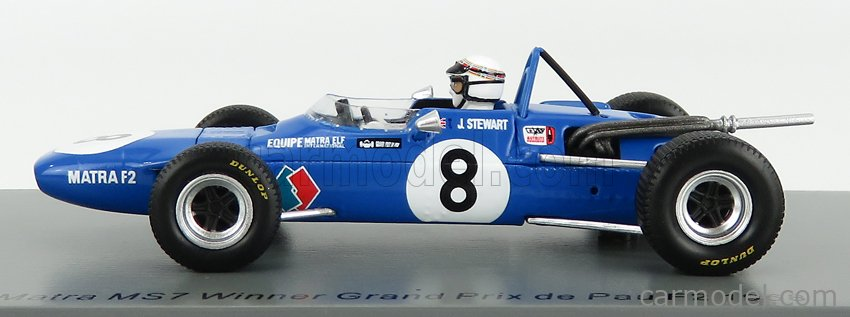 SPARK-MODEL SF184 Scale 1/43  SIMCA MATRA F2 GRAN PRIX MS7 N 8 WINNER DE PAU GP 1968 J.STEWART BLUETTE