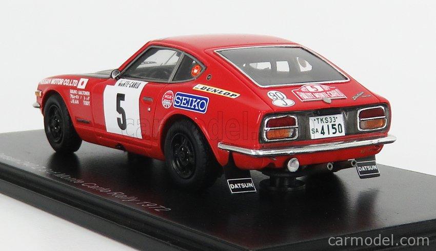 SPARK-MODEL S6280 Scale 1/43  NISSAN DATSUN 240Z N 5 3rd RALLY MONTECARLO 1972 R.AALTONEN - J.TODT RED MATT BLACK