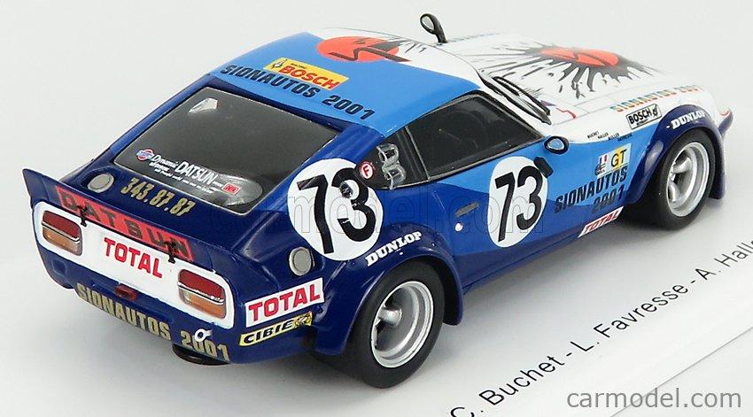SPARK-MODEL S3582 Scale 1/43  NISSAN 260Z 2.6L S6 TEAM SION AUTO N 73 24h LE MANS 1976 C.BUCHET - L.FAVRESSE - A.HALLER WHITE 2 TONE BLUE