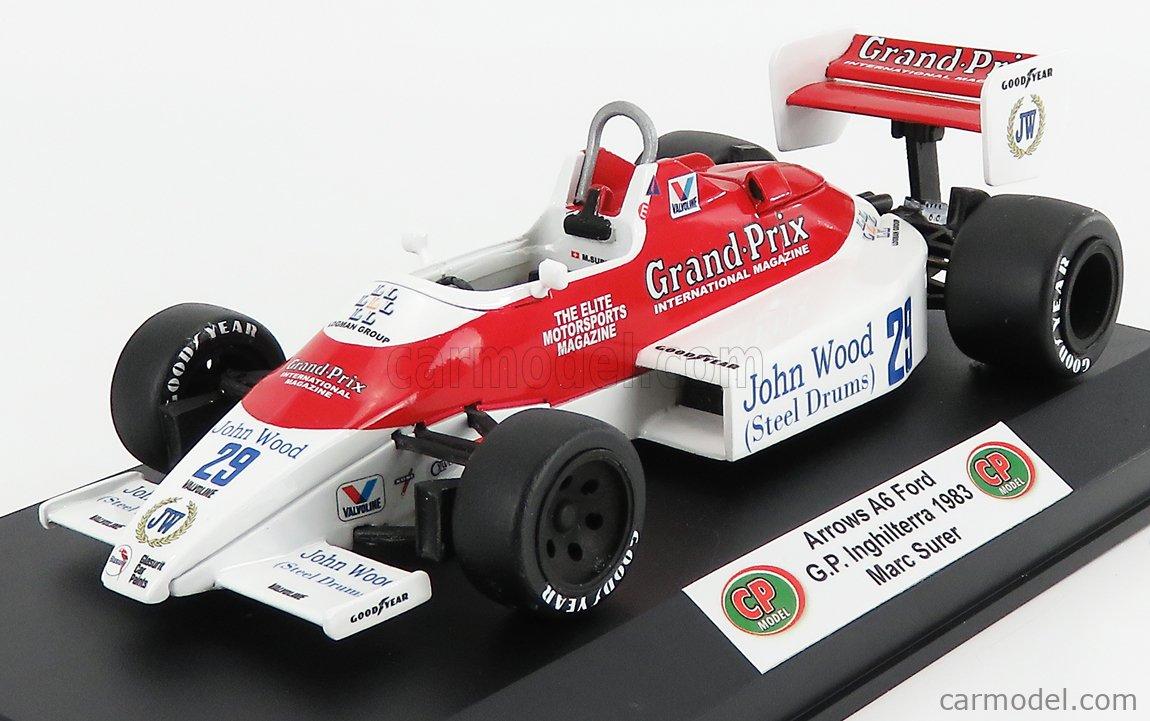 CP-MODEL CPBM012 Masstab: 1/18  ARROWS F1  A6 FORD N 29 BRITISH GP 1983 M.SURER WHITE RED
