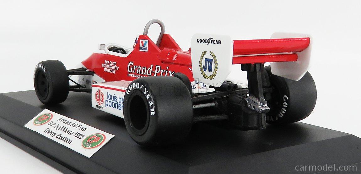 CP-MODEL CPBM013 Masstab: 1/18  ARROWS F1  A6 FORD GOLIA N 30 BRITISH GP 1983 T.BOUTSEN WHITE RED