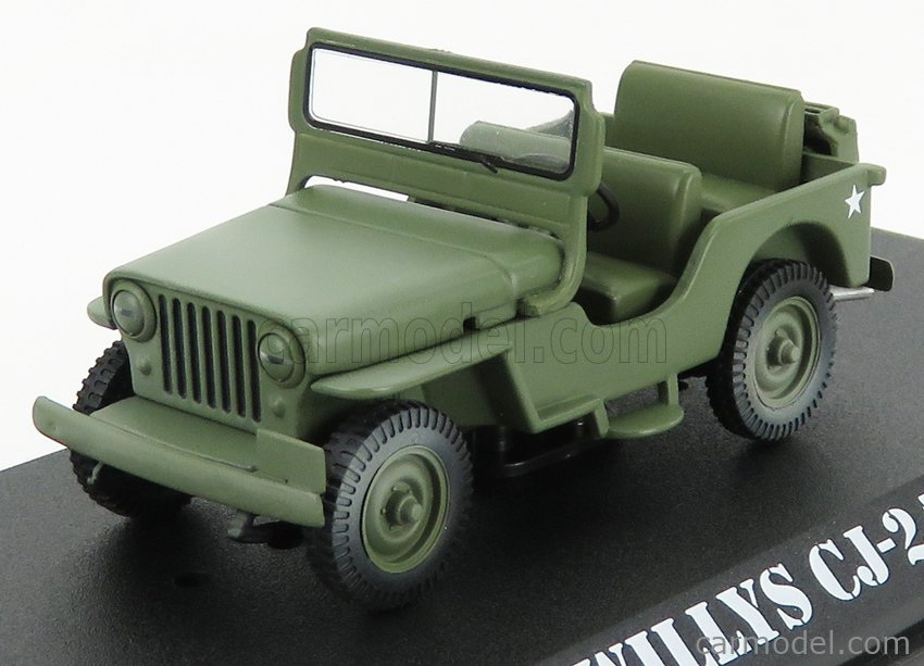 GREENLIGHT 86592 Masstab: 1/43  JEEP WILLYS CJ-2A OPEN 1949 - M-A-S-H MILITARY GREEN