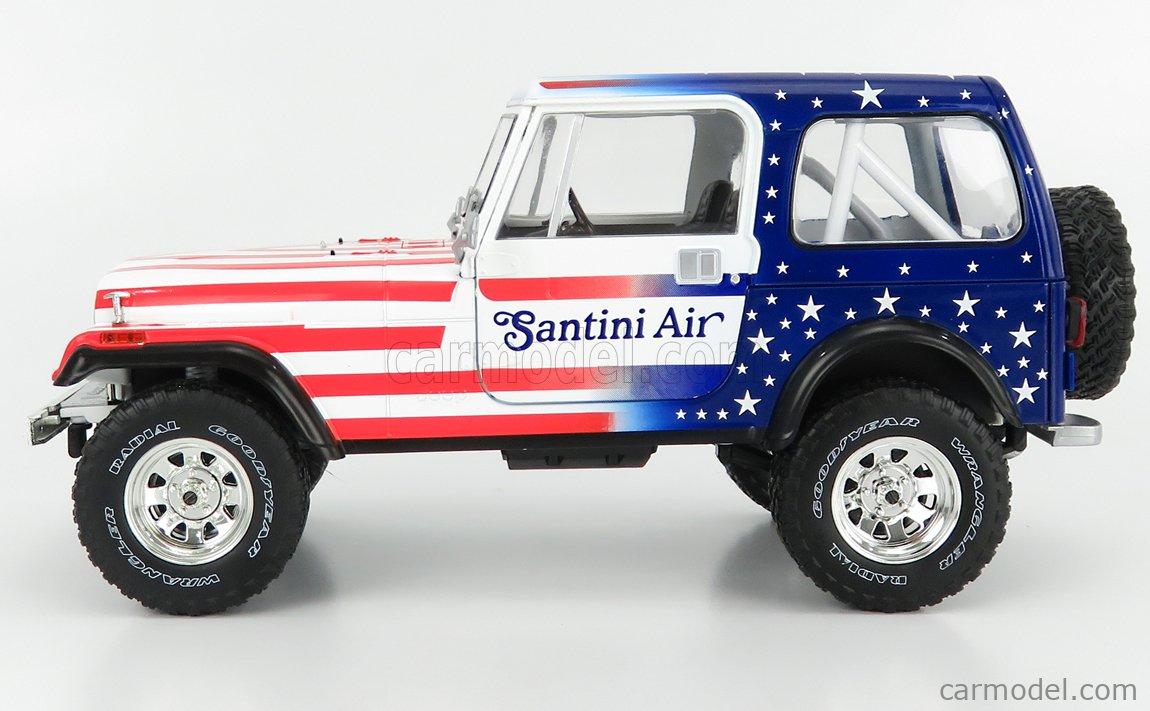 GREENLIGHT 19090 Masstab: 1/18  JEEP CJ-7 RENEGADE CLOSED 1982 - SANTINI AIR RED WHITE BLUE