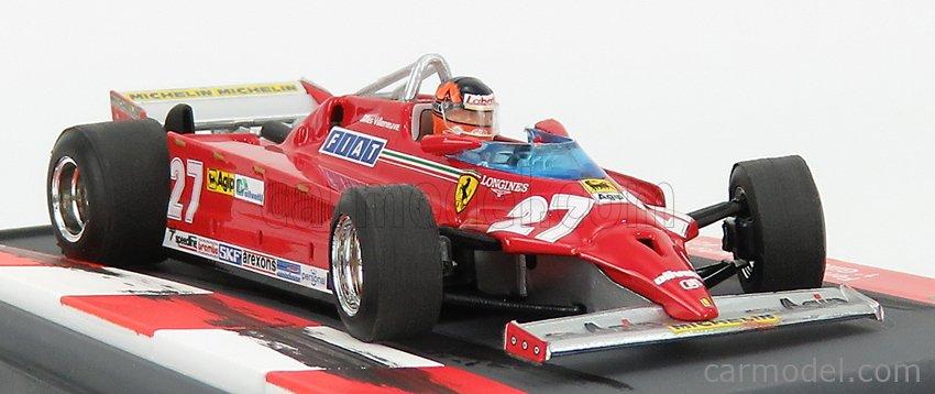 BRUMM PROM S21/01 Scale 1/43  FERRARI F1 126CK TURBO N 27 WINNER MONTECARLO 1981 GILLES VILLENEUVE - WITH DRIVER FIGURE RED