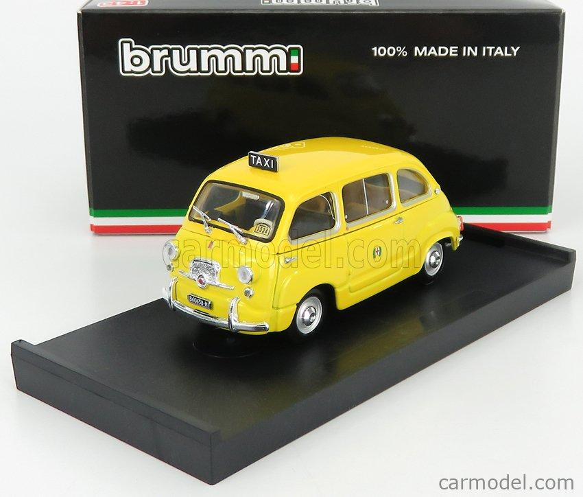 BRUMM R334B Scale 1/43  FIAT 600D MULTIPLA TAXI MILANO 1970 YELLOW