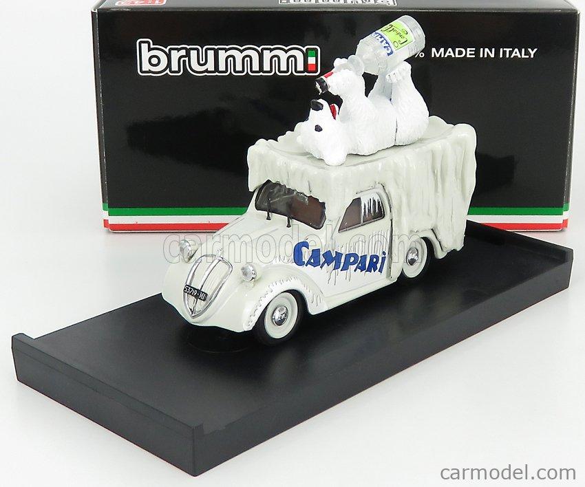 BRUMM R450-UPD-2021 Scale 1/43  FIAT 500 FURGONCINO VAN CAMPARI 1950 IVORY