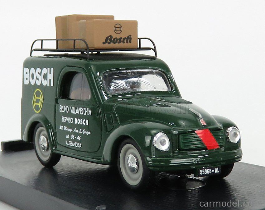 BRUMM R374-UPD-2021 Scale 1/43  FIAT 500C VAN BOSCH ALESSANDRIA 1950 GREEN