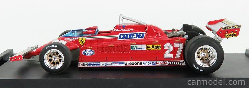 BRUMM R390-UPD-2021 Scale 1/43  FERRARI F1  126CK TURBO N 27 ITALY GP 1981 GILLES VILLENEUVE RED