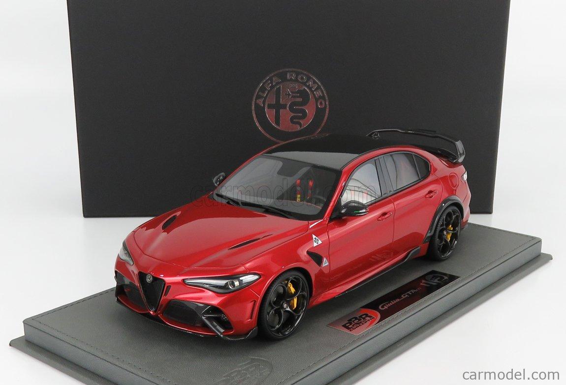 BBR-MODELS BBRC1852A1-VET Scale 1/18  ALFA ROMEO GIULIA GTAm 2020 - CON VETRINA - WITH SHOWCASE ROSSO GTA - RED MET