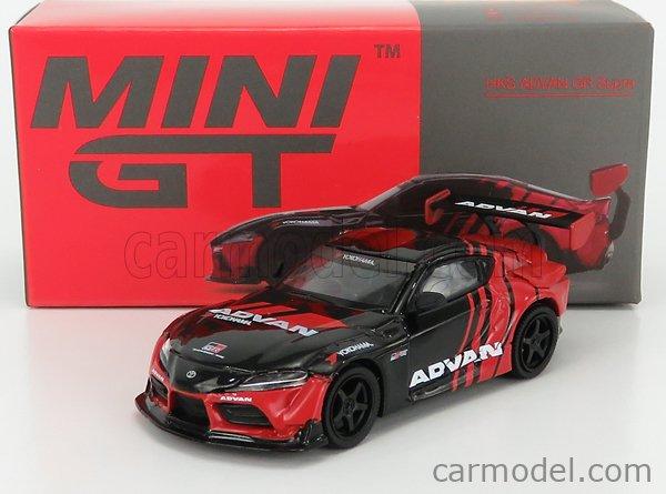 TRUESCALE MGT00206-R Masstab: 1/64  TOYOTA SUPRA GR ADVAN RHD 2020 RED BLACK