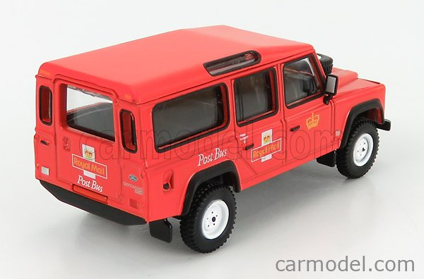 TRUESCALE MGT00152-R Masstab: 1/64  LAND ROVER LAND DEFENDER 110 STATION WAGON ROYAL MAIL POST BUS RHD 1995 MATT RED