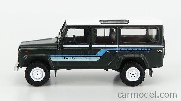 TRUESCALE MGT00151-L Masstab: 1/64  LAND ROVER LAND DEFENDER 110 V8 STATION WAGON LHD 1995 DARK GREEN WHITE