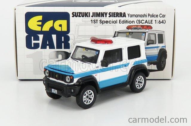 ERA-MODELS RN1301 Echelle 1/64  SUZUKI JIMNY YAMANASHI POLICE 2020 WHITE LIGHT BLUE