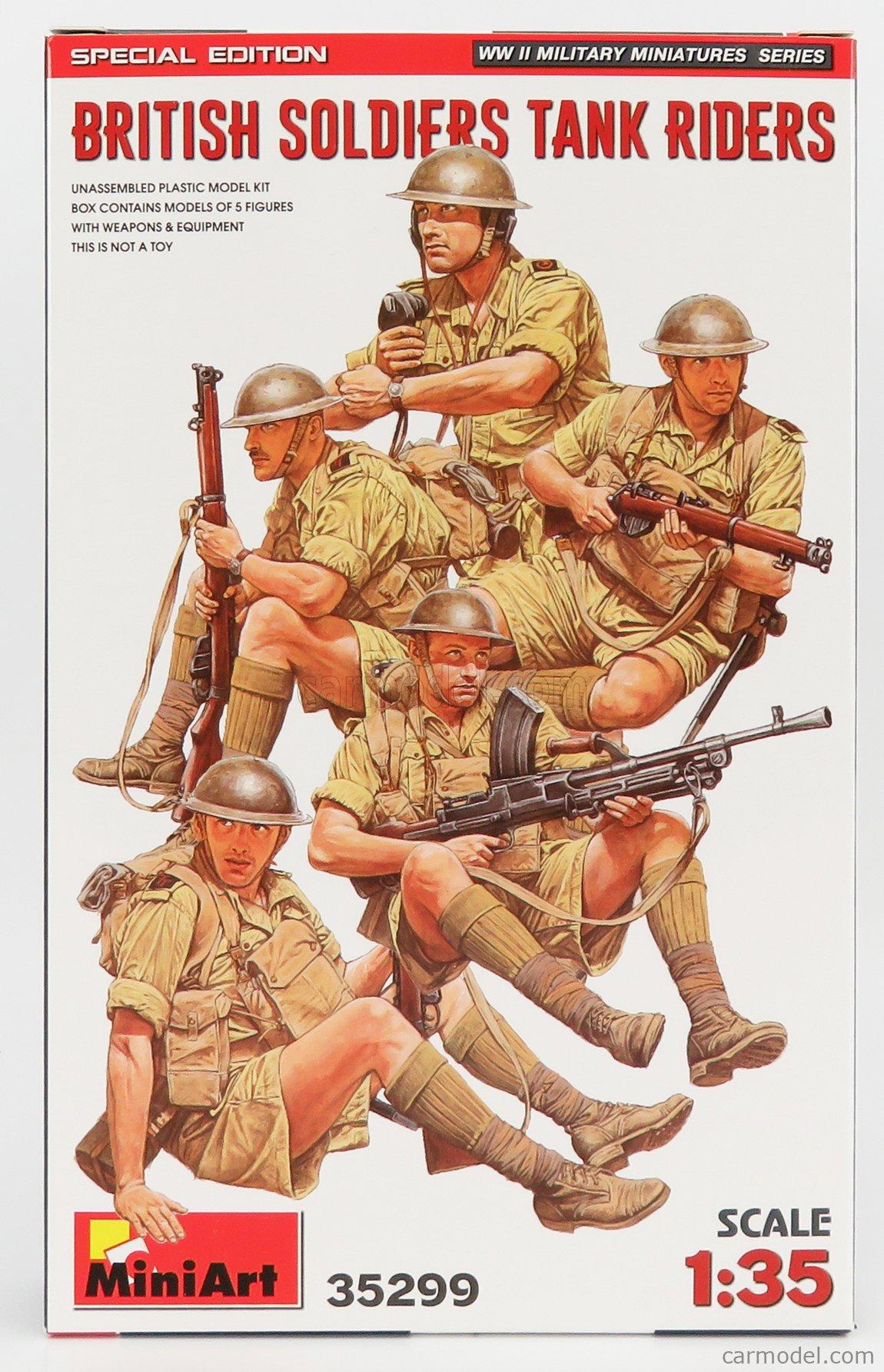 MINIART 35299 Scale 1/35  FIGURES SOLDATI - BRITISH SOLDIERS MILITARY TANK RIDERS /