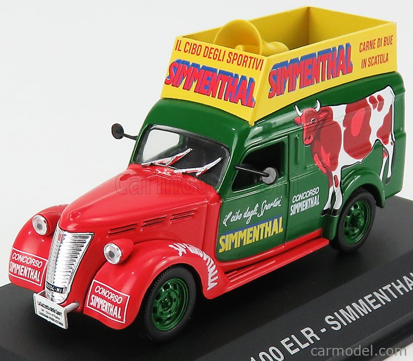 EDICOLA VCDE040 Масштаб 1/43  FIAT 1100 ELR VAN SIMMENTHAL 1948 RED GREEN YELLOW