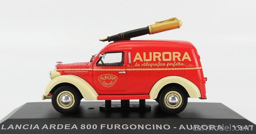 EDICOLA VCDE033 Масштаб 1/43  LANCIA ARDEA 800 CAMIONCINO PICK-UP AURORA 1947 RED CREAM