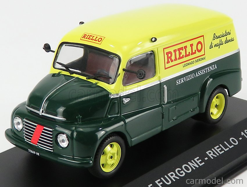 EDICOLA VCDE032 Масштаб 1/43  FIAT 615 FURGONE VAN RIELLO 1953 GREEN YELLOW