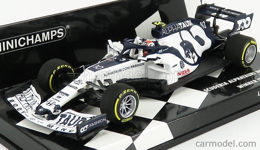 MINICHAMPS 417200810 Scale 1/43  ALPHA TAURI F1  AT01 HONDA RA620H TEAM ALPHA TAURI F1 N 10 WINNER ITALY GP 2020 PIERRE GASLY WHITE BLUE