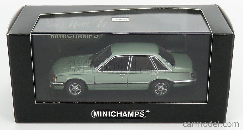 MINICHAMPS 400045100 Echelle 1/43  OPEL SENATOR 1980 GREEN MET