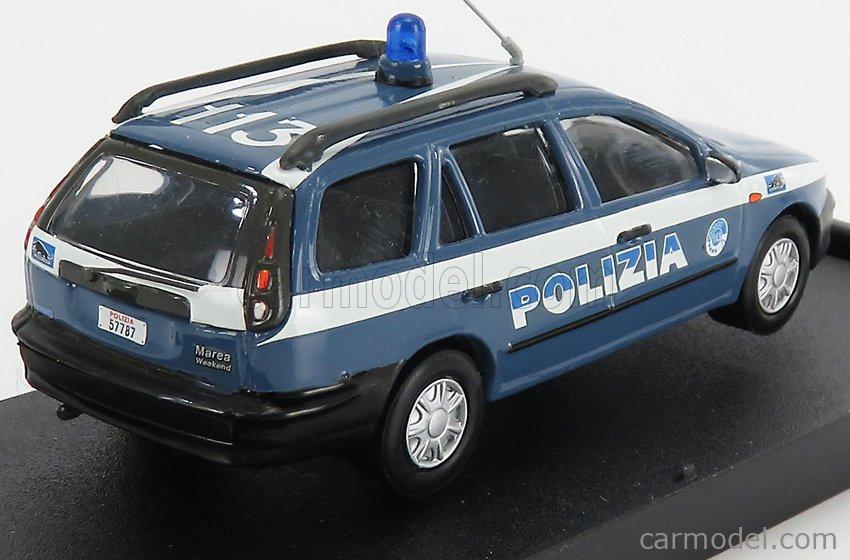 GIOCHER FM02 Echelle 1/43  FIAT MAREA WEEKEND PANTERA POLIZIA 1996 LIGHT BLUE WHITE