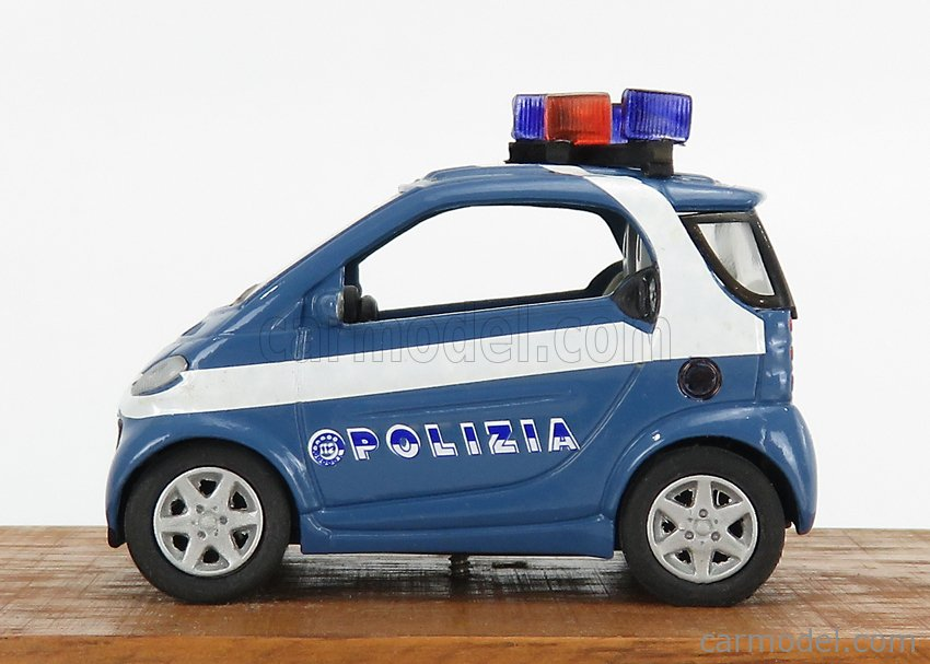 CODE3 145964 Echelle 1/43  SMART POLIZIA 2003 BLUE WHITE