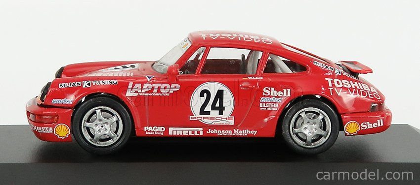 VITESSE 731/8 Scale 1/43  PORSCHE 911 CARRERA N 24 CUP GERMANY 1993 D.LAND - CON VETRINA - WITH SHOWCASE RED