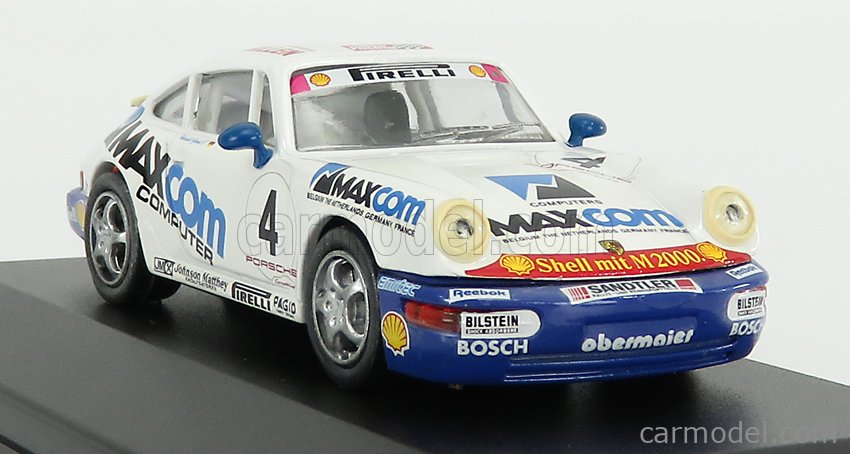 VITESSE 731/2 Scale 1/43  PORSCHE 911 CARRERA N 4 CUP GERMANY H.GROHS 1993 - CON VETRINA - WITH SHOWCASE WHITE