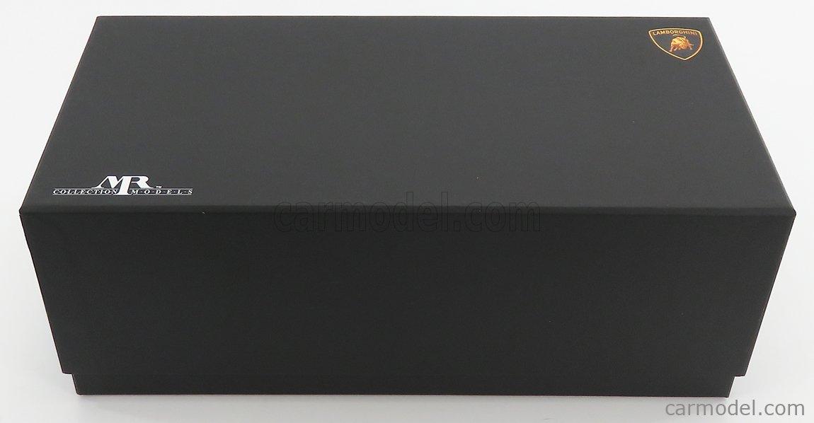 MR-MODELS LAMBO039XA Scale 1/18  LAMBORGHINI AVENTADOR SVJ ROADSTER XAGO EDITION 2018 - CON VETRINA - WITH SHOWCASE BIANCO ASOPO - WHITE PEARL MET