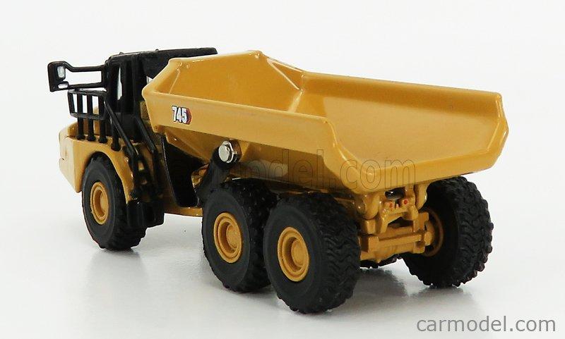 DM-MODELS 85548 Echelle 1/125  CATERPILLAR CAT745 CASSONE RIBALTABILE CAVA 3-ASSI - ARTICULATED TRUCK YELLOW BLACK
