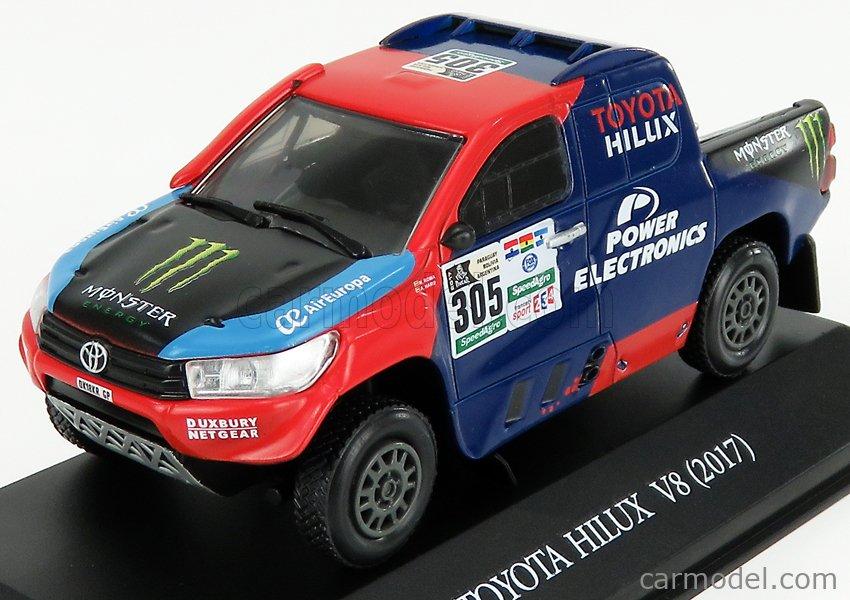 EDICOLA DK305 Masstab: 1/43  TOYOTA HILUX N 305 RALLY DAKAR 2017 N.ROMA RED BLUE BLACK
