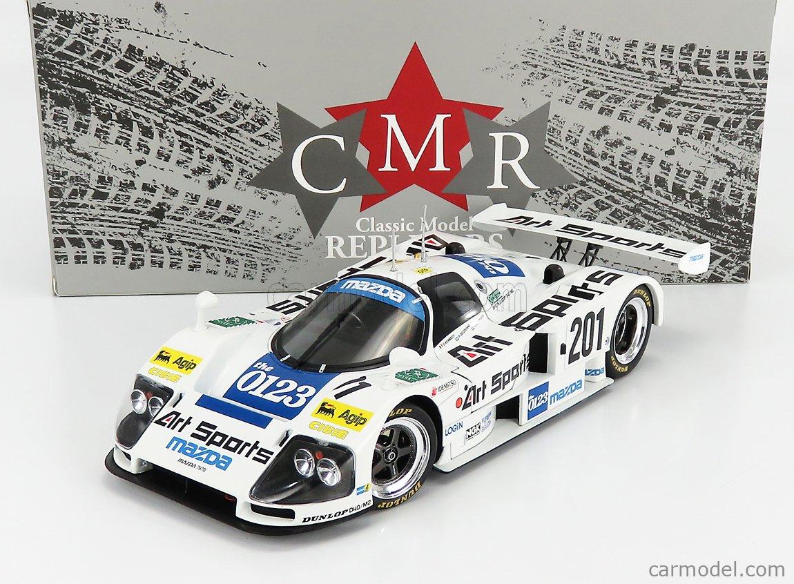 CMR CMR209 Масштаб 1/18  MAZDA 787 R26B 2.6L TEAM MAZDASPEED CO. LTD. N 201 24h LE MANS 1990 S.JOHANSSON - D.KENNEDY - P.DIEUDONNE WHITE LIGHT BLUE