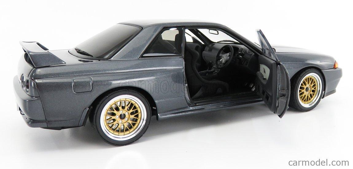 AUTOART 77411 Scale 1/18  NISSAN SKYLINE GT-R (R32) WANGAN MIDNIGHT REINA 1991 GREY MET
