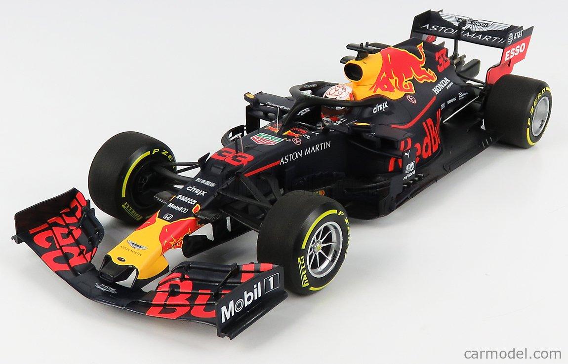 MINICHAMPS 110191933 Scale 1/18  RED BULL F1  RB15 TEAM ASTON MARTIN N 33 WINNER BRAZILIAN GP 2019 MAX VERSTAPPEN MATT BLUE YELLOW