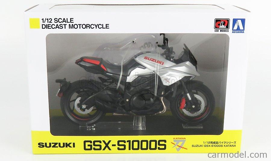 LCD-MODEL LCD107010 Masstab: 1/12  SUZUKI GSX S1100S KATANA 2020 SILVER BLACK RED