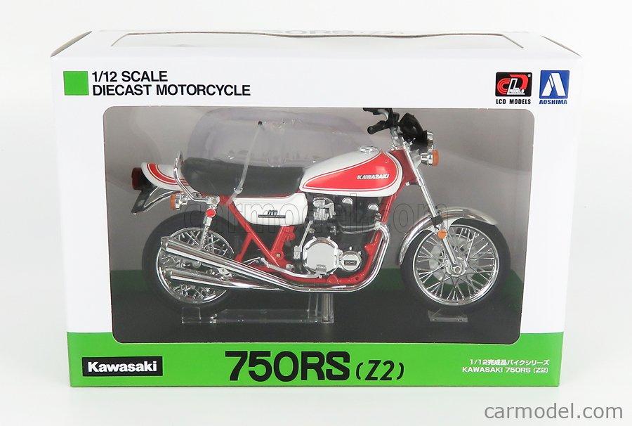 LCD-MODEL LCD105955 Masstab: 1/12  KAWASAKI 750RS Z2 1975 WHITE RED