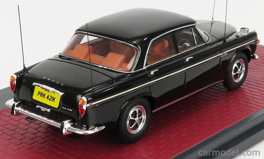 MATRIX SCALE MODELS MX41706-112 Echelle 1/43  ROVER P5B SALOON WITH FIGURES MARGARET THATCHER AND POLICE MAN 1972 BLACK