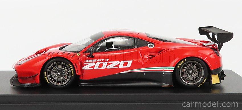 LOOKSMART LSRC068 Scale 1/43  FERRARI 488 GT3 EVO 2020 RED WHITE