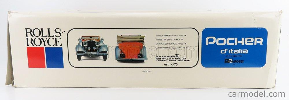 POCHER K75 Scale 1/8  ROLLS ROYCE PHANTOM II TORPEDO CABRIOLET 1934 UNPAINTED