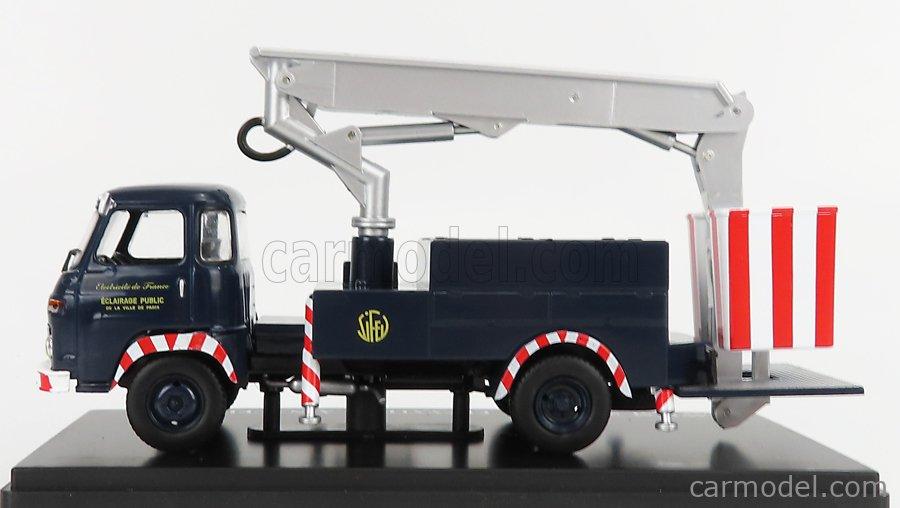 EDICOLA G111N033 Scale 1/43  SAVIEM SG4 R35 EDF TRUCK CRANE GRU ELEVATORE CON PIATTAFORMA CESTELLO 1969 BLUE