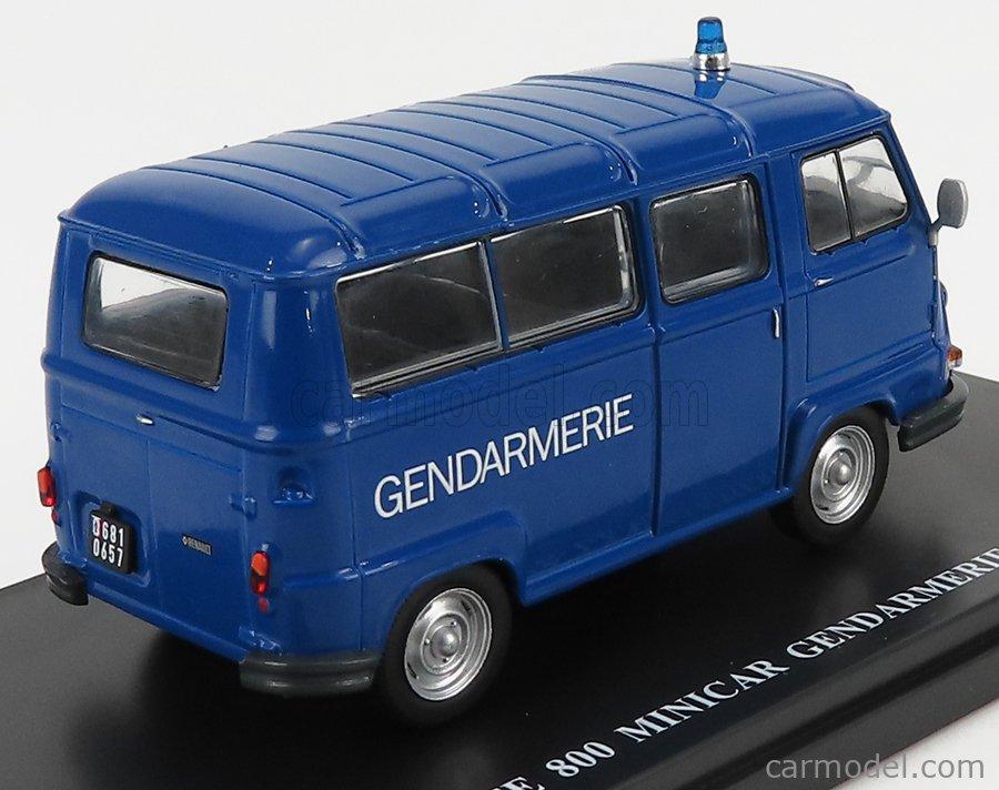EDICOLA G111N011 Scale 1/43  RENAULT ESTAFETTE 800 MINIBUS GENDARMERIE POLICE RADAR MOBILE AUTOVELOX 1978 BLUE