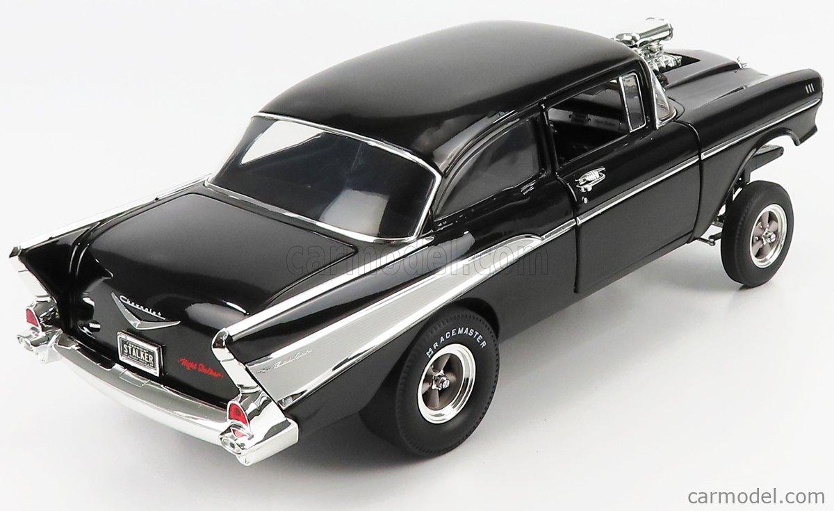 ACME-MODELS A1807010 Scale 1/18  CHEVROLET BEL AIR GASSER DRAGSTER NIGHT STALKER 1957 BLACK