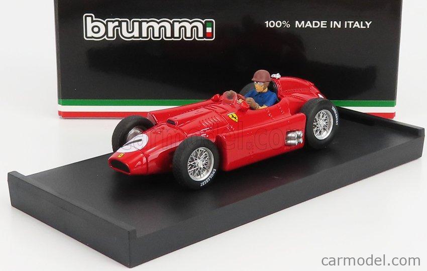 BRUMM R076-CH-UPD-2021 Scale 1/43  FERRARI F1  LANCIA D50 N 1 BRITISH GP JUAN MANUEL FANGIO 1956 WORLD CHAMPION - WITH DRIVER FIGURE RED