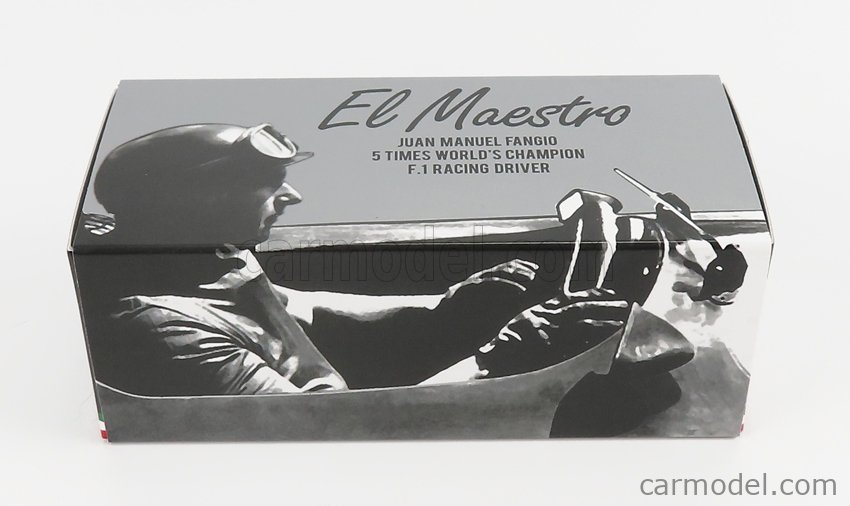 BRUMM R072-CH-UPD-2021 Scale 1/43  MERCEDES BENZ F1 W196 N 8 WINNER HOLLAND GP JUAN MANUEL FANGIO 1955 WORLD CHAMPION - WITH DRIVER FIGURE SILVER